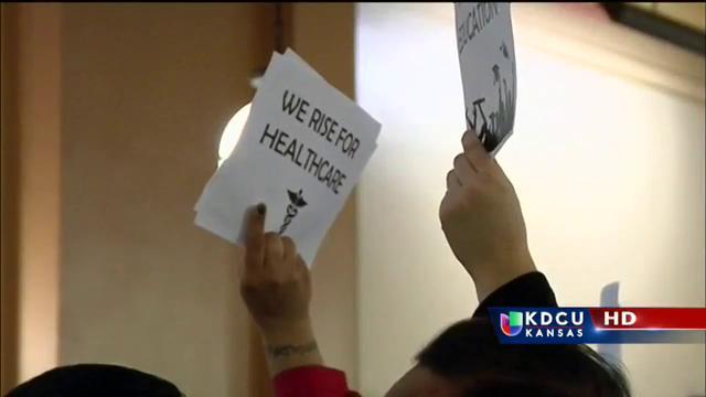 Manifestantes se presentaron en Topeka pidiendo un cambio en la legislación