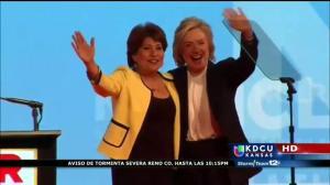 Candidata presidencial Hillary Clinton visita Kansas City