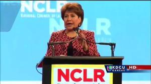 Janet Murguía, termina conferencia de NCLR en KC dirigiéndose a los Republicanos.