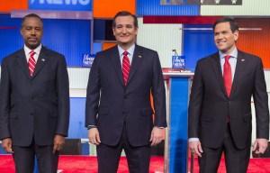 Ted Cruz, Marco Rubio y Ben Carson se enfrentan hoy en CNN