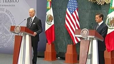 Joseph Biden se disculpa con México por discursos de republicanos