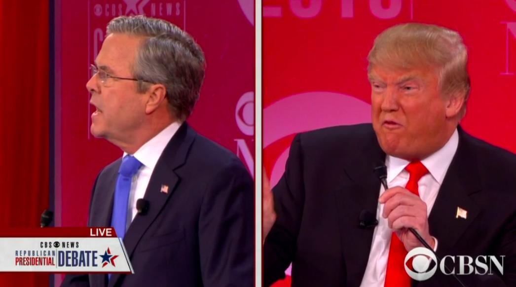 VIDEO: Donald Trump y Jeb Bush chocan en debate republicano