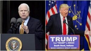 McCain condena los ataques de Trump a padres de soldado musulmán