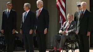 VIDEO: Se unen los 5 expresidentes de EE.UU. por Harvey
