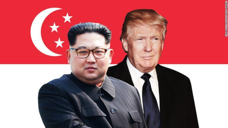 Trump y Kim en Singapur