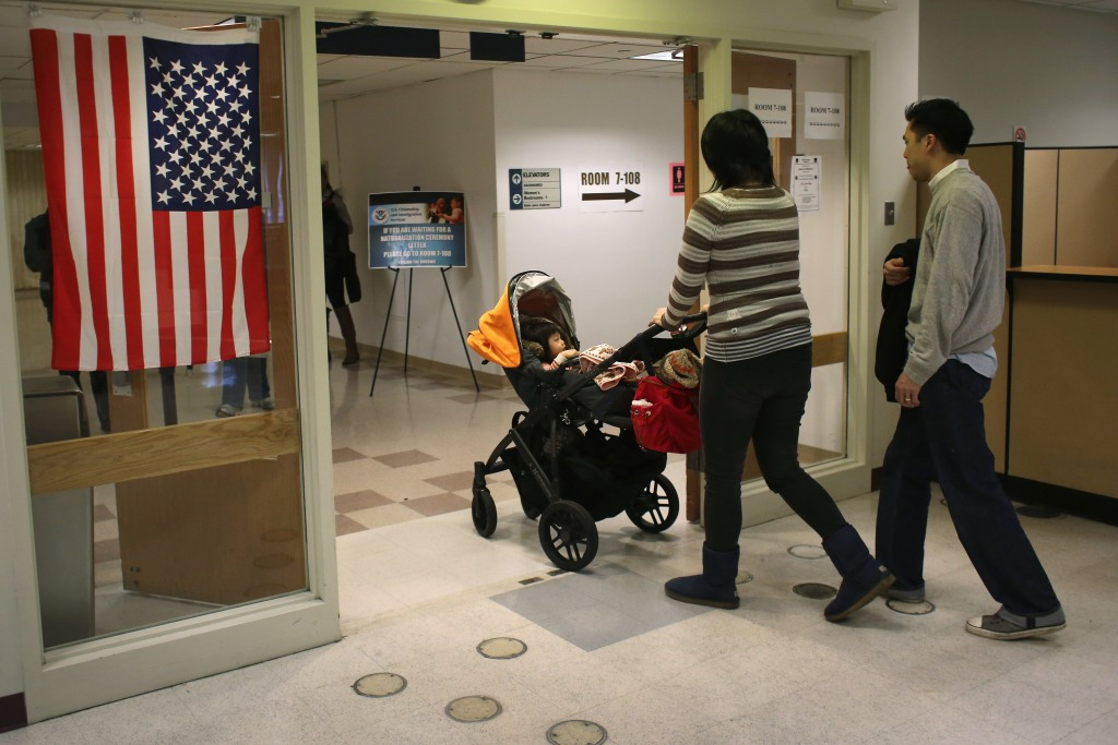 Visita de inmigrantes a oficinas de Uscis en NY
