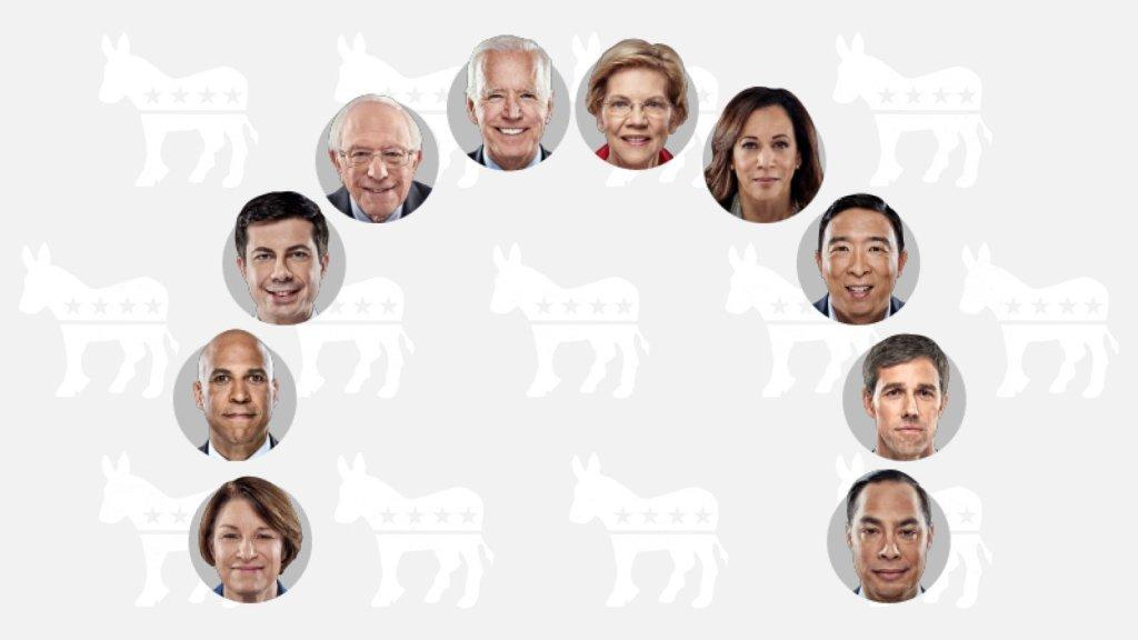 Candidatos demócratas se miden en tercer debate en Houston, Texas