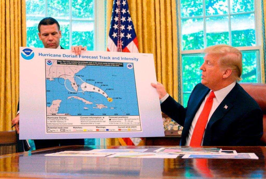 trump mapa alterado Dorian