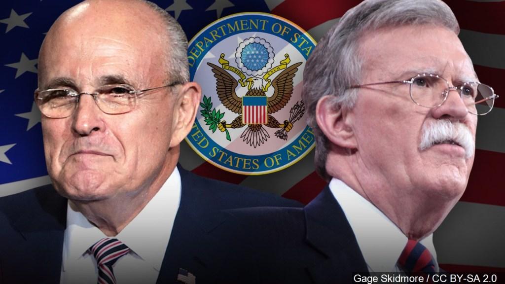 """""""Impeachment"""": Bolton advirtió sobre influencia de Giuliani en Ucrania"""
