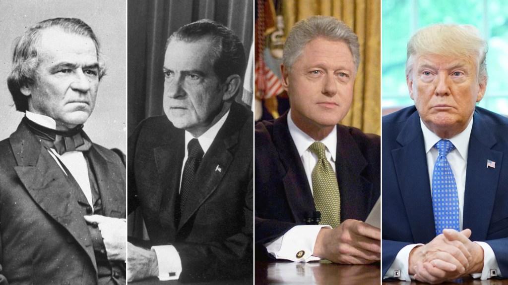 """El """"impeachment"""" de Trump frente a los de otros 3 presidentes"""