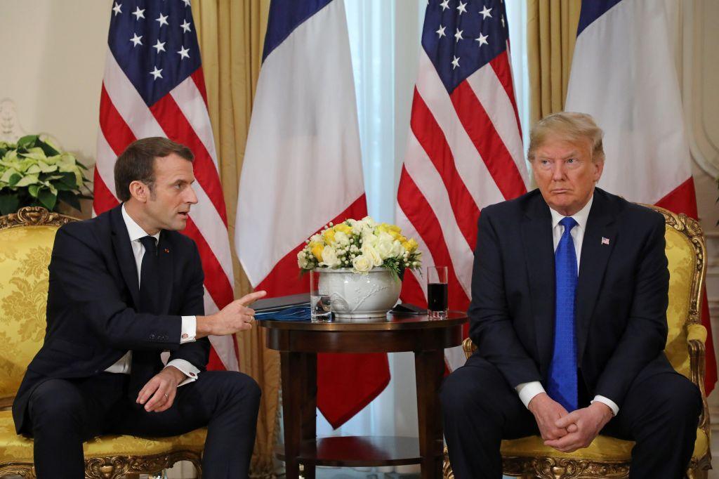 Drama en la cumbre de la OTAN: se pelean Macron y Trump