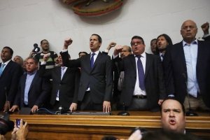 Juan Guaidó reclama el control de la Presidencia de la Asamblea Nacional de Venezuela