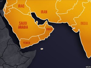 mapa medio oriente