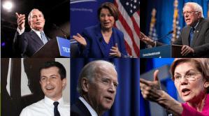6 candidatos demócratas se miden en Las Vegas